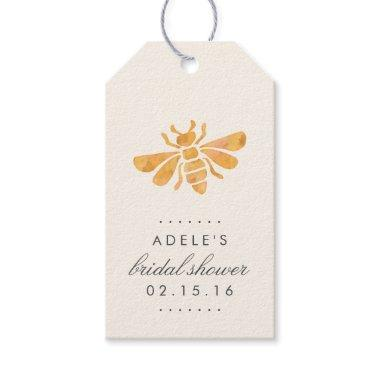 Golden Bee Watercolor  Favor Gift Tags