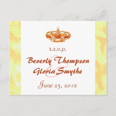 Golden Crown Wedding RSVP post