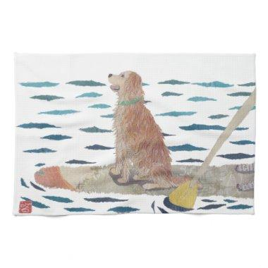 Golden Retriever, Beach Dog, Paddle Board Towel