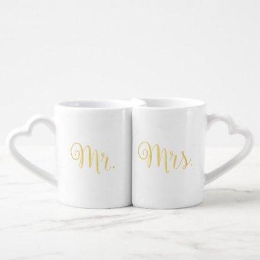 Golden Script Mr. Mrs. Lovers Mug