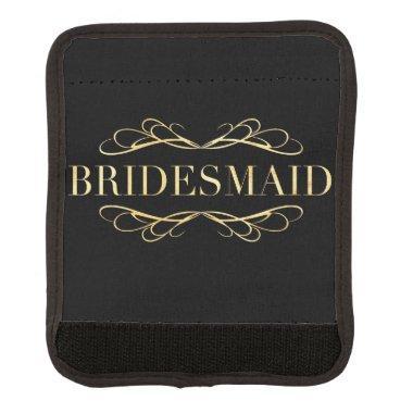 Golden Scroll Bridesmaid Luggage Handle Wrap