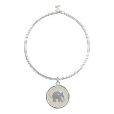 Gorgeous adorable vintage elephant wedding bride's bangle bracelet