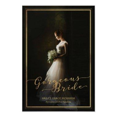 Gorgeous Bride Elegant Typography Photo Template Poster