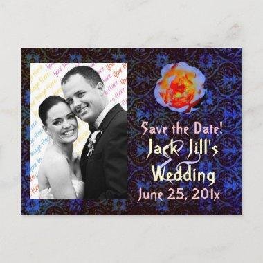 Gothic Rose Damask Save the Date post
