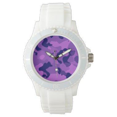 Grape Purple Camo; Camouflage Watch