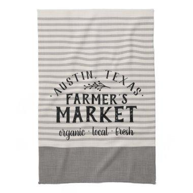 Gray Stripes Custom Farmer's Market | Farmhouse Towel
