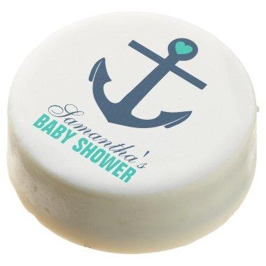 Green Anchor Nautical Chocolate Dipped Oreo