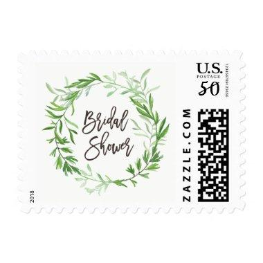 Green Botanical Leaves Wreath  Postage
