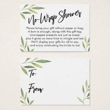 Green Foliage No-Wrap Bridal Shower Gift Invitations