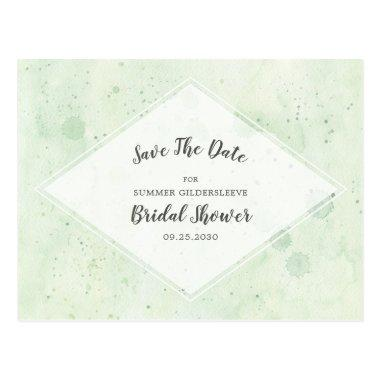 Green White  Save The Date Post