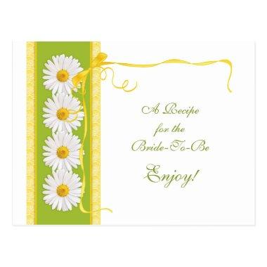 Green Yellow Daisy Recipe  for the Bride