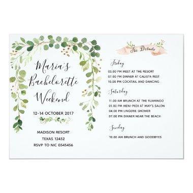 Greenery Bachelorette Weekend Itinerary