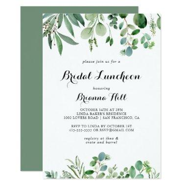 Greenery Eucalyptus Bridal Luncheon Bridal Shower Invitations