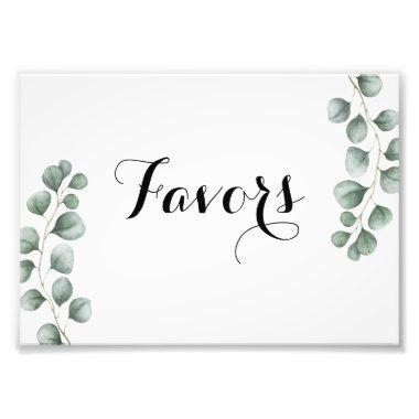 Greenery Eucalyptus Favor Sign