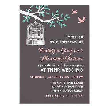 Grey Bird Cage and Dove Rustic Wedding