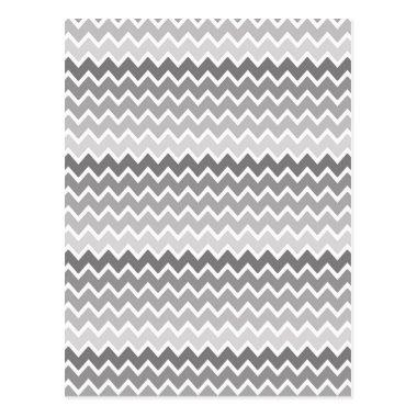 Grey Gray Ombre Chevron Zigzag Pattern Post