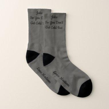 Groom So You Don't Get Cold Feet Wedding Socks