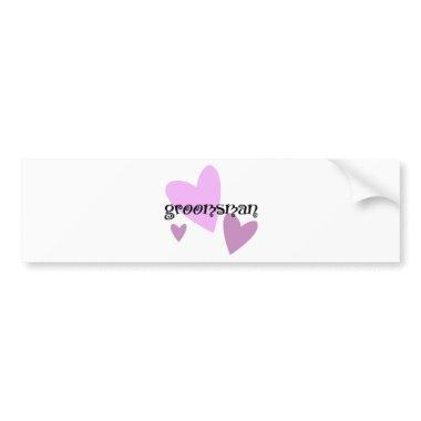 Groomsman Bumper Sticker