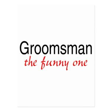 Groomsman The Funny One Post