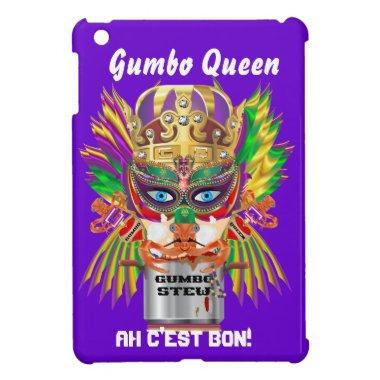 Gumbo Queen Mardi Gras View Hints please iPad Mini Case