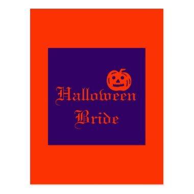 Halloween Bride with Pumpkin Post