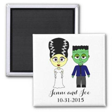 Halloween Theme Wedding Magnet