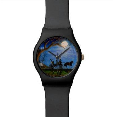 Halloween,wedding,watch,Halloween Honeymoon,witch Wristwatch