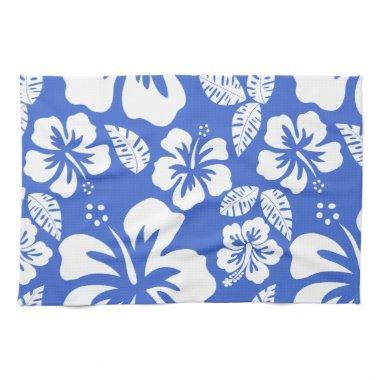 Han Blue Hawaiian Tropical Hibiscus Towel