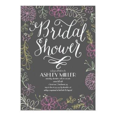Handdrawn Botanicals | Bridal Shower Invitations