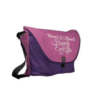 Happily Ever After custom messenger bag