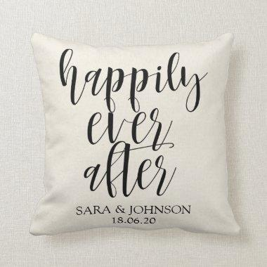 happily ever after|wedding gift for couple throw pillow