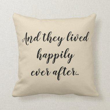 Happily Ever After Wedding Pillow