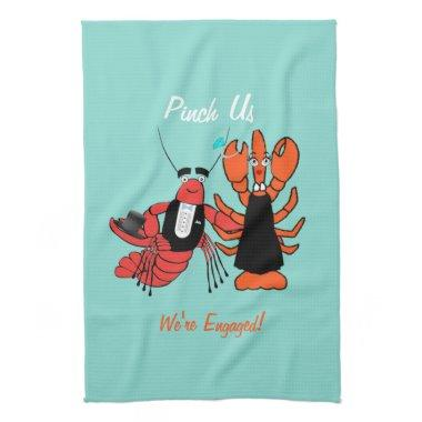 Happy Couple Crawfish Boil Party Hand Towel