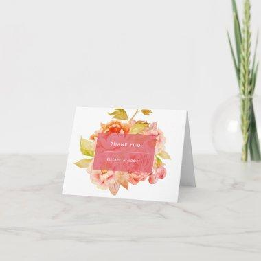 Harvest Floral Thank You Invitations
