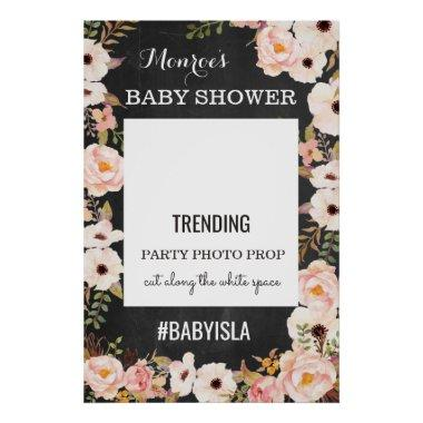 Hashtag Photo Prop Sign for Baby or Bridal Shower
