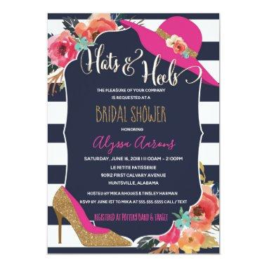 Hats and Heels Bridal Shower Invitations
