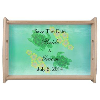 Hawaiian Honu Save The Date Serving Tray