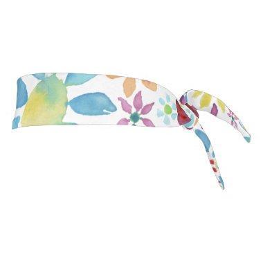 Heart of Flowers Tie Headband