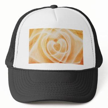 Heart orange created by Tutti Trucker Hat