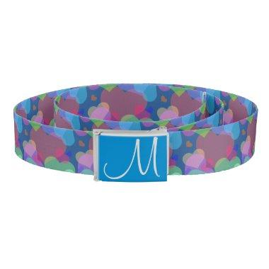 Heart Popper Monogrammed Belt