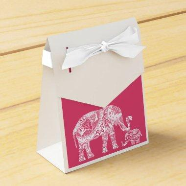 Henna Elephant - Indian Inspiration Favor Box