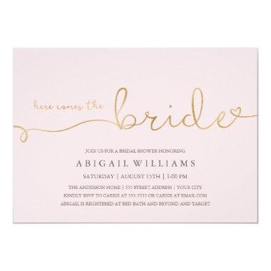 Here comes the bride dk -shower Invitations