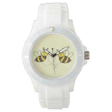 Honey Bees with Heart Sporty Wrist Watch