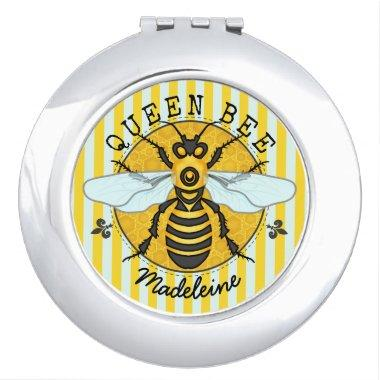 Honeybee Bumblebee Queen Bee Honey | Personalized Makeup Mirror