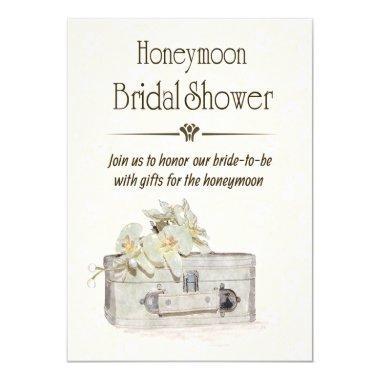 Honeymoon Bridal Shower with Travel Bag Invitations