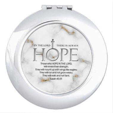 Hope in the Lord Scripture Verse Isaiah 40:31 Compact Mirror