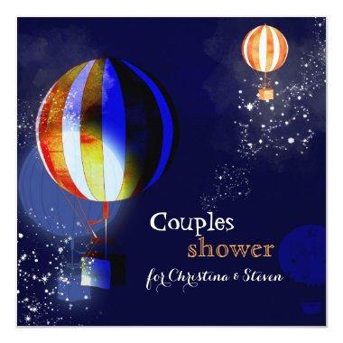 Hot Air Balloons Couples Shower Invitations