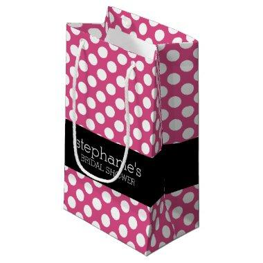 Hot Pink and Black  Preppy Pattern Small Gift Bag