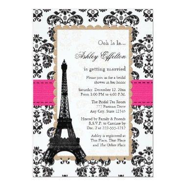Hot Pink Eiffel Tower Parisian