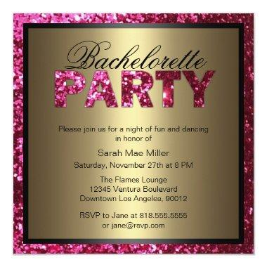 Hot Pink Glitter Bachelorette Party